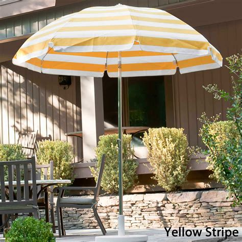 7 5 patio umbrella 7 5 ft acrylic canopy crank steel patio umbrella with