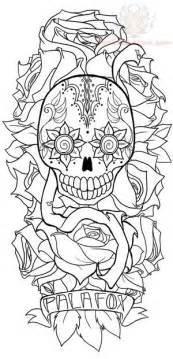 Pics Photos  Sugar Skull And Flower Tattoo Design Tattoos Funny sketch template