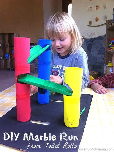 What To Make Out Of Paper Towel Rolls - diy marble run from toilet rolls