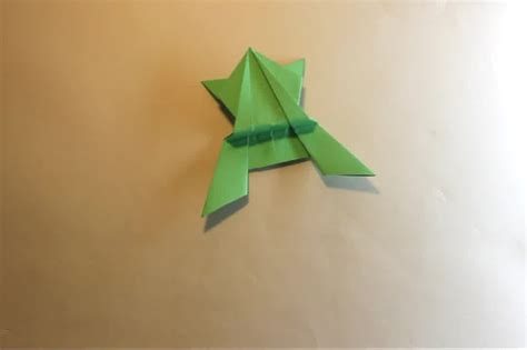 Paper Frog Origami - how to make an origami jumping frog 15 steps with pictures