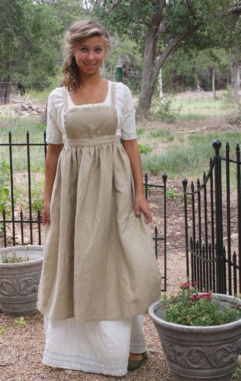 pattern for regency apron regency apron jane austen linen apron sense and