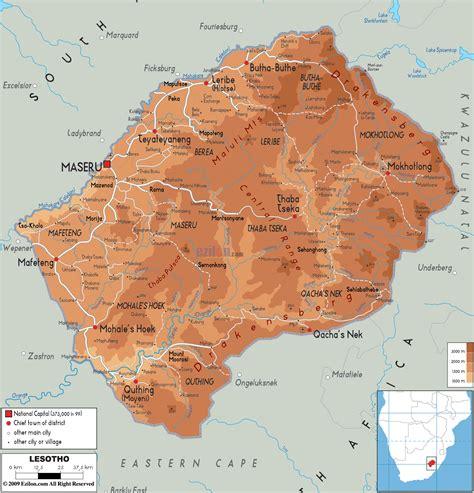 lesotho map lesotho basutoland