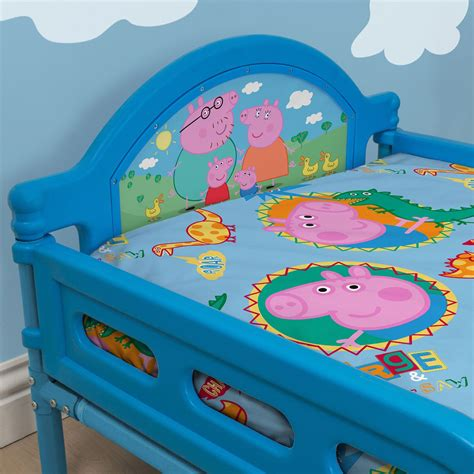 peppa pig toddler bed peppa pig george toddler bed with mattress new ebay