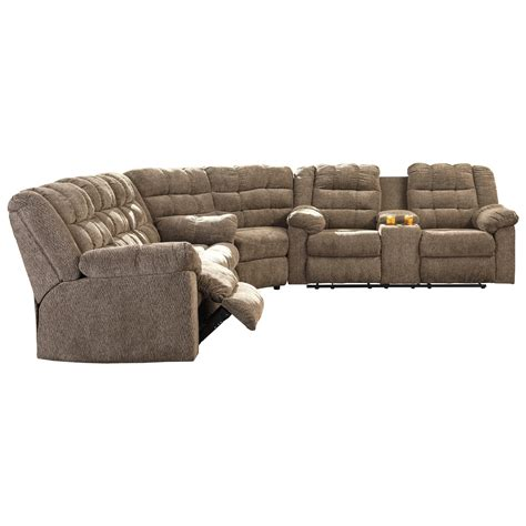 3 piece reclining sectional sofa signature design by ashley workhorse 3 piece sectional