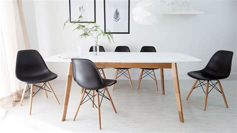 eames dining table white and oak extending dining table and eames style