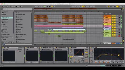 Ableton Live Template Edx Style By Alex Menco Deep House Tech House Midi Production Youtube Ableton House Template