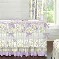 Lavender And Green Crib Bedding Purple Floral Crib Bedding Carousel Designs
