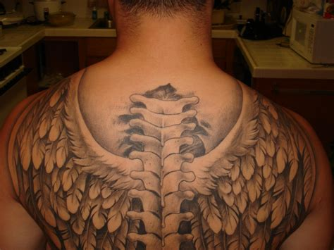 angel wing tattoo on back back wings tattoos for skull tattoos