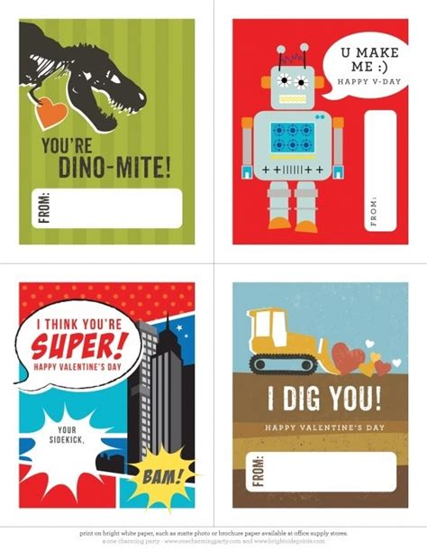 Boys Valentines Day Card Templates by S Day Boy Cards The Boys Store