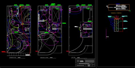 housing electric installations dwg block  autocad
