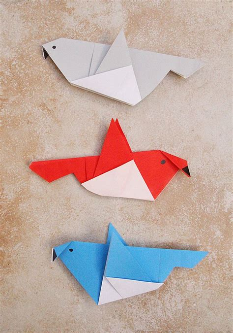 simple origami birds for or a grown up who needs a