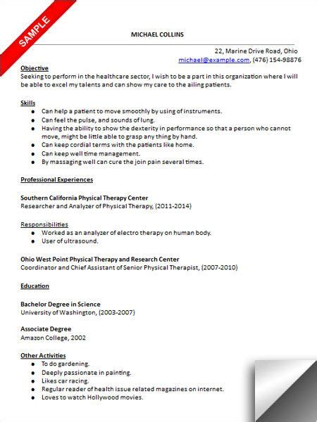 physical therapist aide cover letter sample occupational