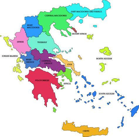 regions of greece map