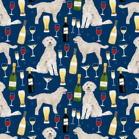 doodle club drink shop do doodle golden doodle wine drinks pattern navy