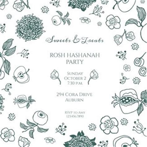 Rosh Hashanah Cards Templates Free by 1000 Images About Rosh Hashanah Invitation Templates On
