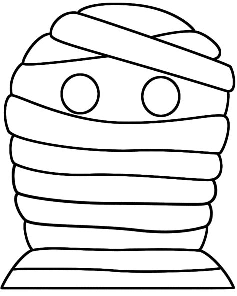 best photos of mummy outline template mummy cut out