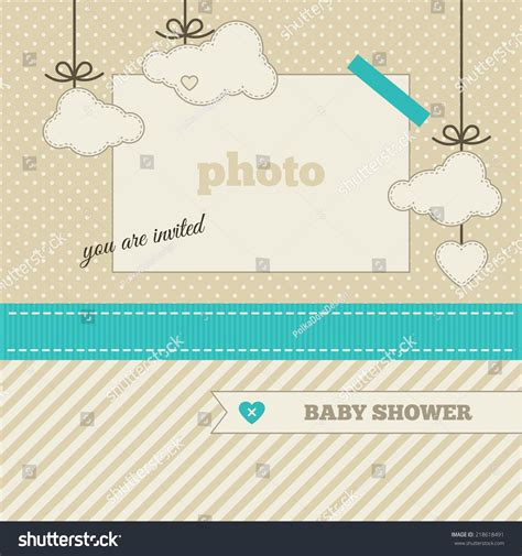 templates for baby shower in vector from stock 25 eps baby shower invitation template azure beige and cream