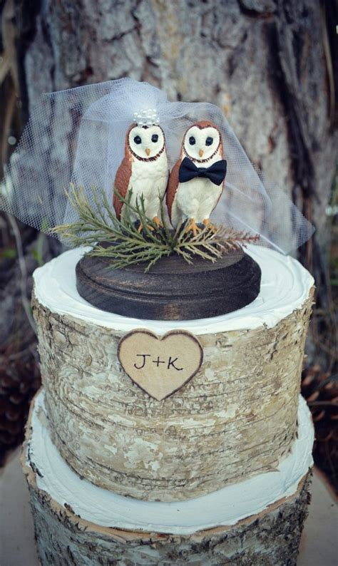 More Whimsical Cakes To Impress by 11 Awesome Cake Toppers From Etsy Owl Cake Toppers Owl
