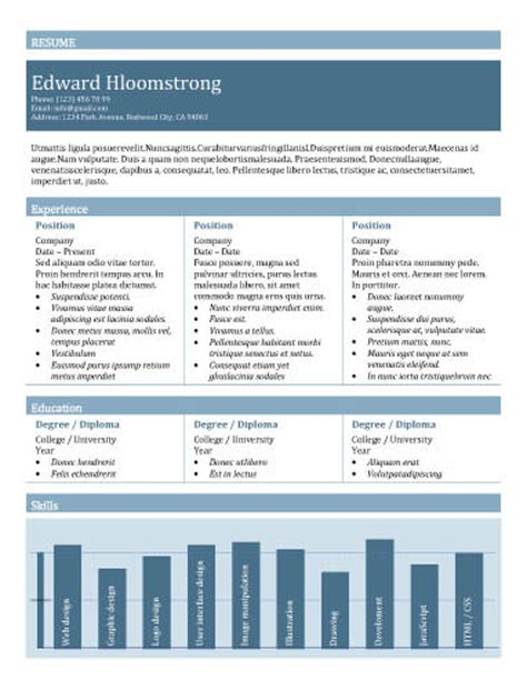 Resume Charting 89 Best Yet Free Resume Templates For Word