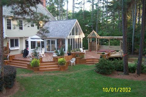 Design House Kitchen And Bath Raleigh Nc multi level deck sunroom from creative design builders