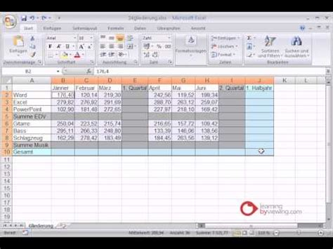 youtube tutorial for excel excel tutorial gliederung youtube