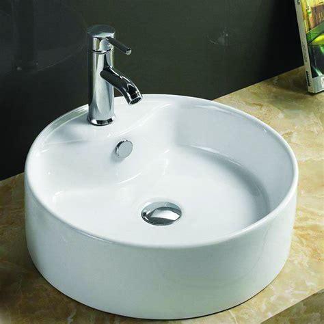 vasque ronde 224 poser 216 40 cmx16 cm c 233 ramique blanc