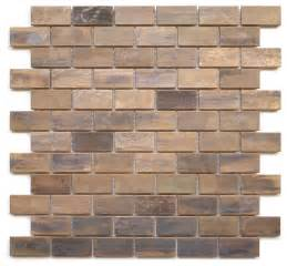 tile sheets for kitchen backsplash medium brick antique copper mosaic tile sheet