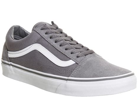 Vans Skool Black Grey vans skool trainers in gray for lyst