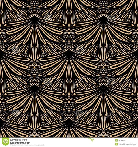 vector pattern art deco art deco vector floral pattern stock photo image