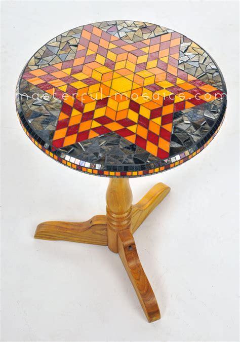 Mosaic Glass Table L by Glass Mosaic Housewares Masterful Mosaics