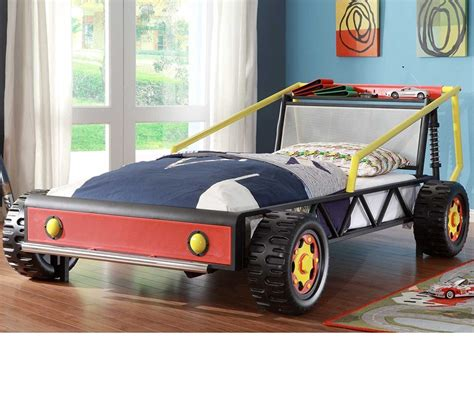 twin car beds dreamfurniture com track red twin race car bed red