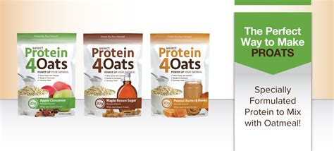 protein 4 oats pescience select protein 4 oats enhance your breakfast