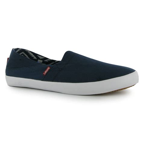levis shoes for levis sunset slip on casual shoes mens gents ebay