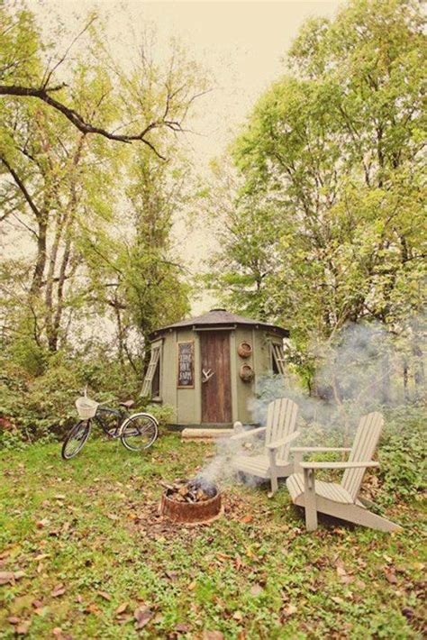 living simply in a tiny yurt cabin tiny house pins
