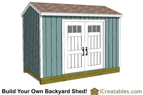 Building A 8x12 Shed by 8x12 Backyard Shed Plans Shed Plans Storage Shed