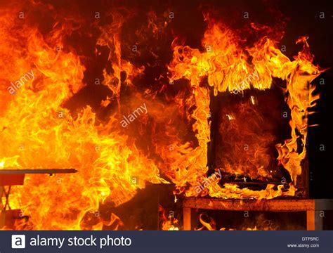 in a burning room berlin germany burning room in a branduebungscontainer stock photo royalty free image