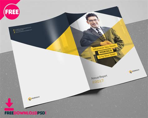 Annual Report Brochure Template Freedownloadpsd Com A5 Size Brochure Templates Psd Free
