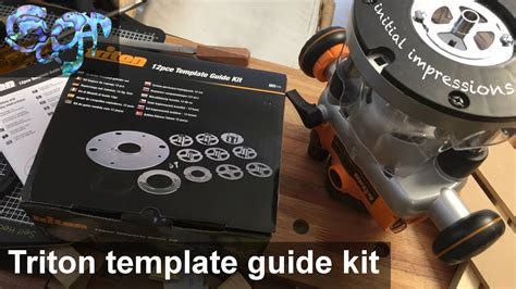 triton router 12pce template guide kit initial