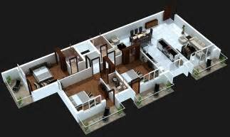 Apartment Living Room Design 50 three 3 bedroom apartment house plans architecture
