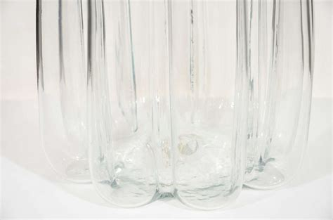 large clear glass gored floor vase by blenko at 1stdibs