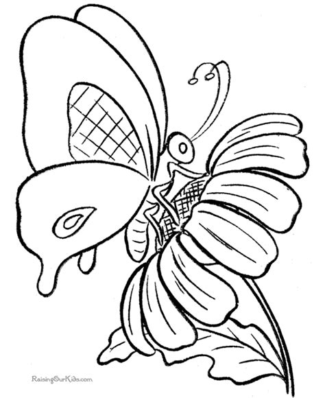 free online coloring pages of butterflies butterfly coloring page 001