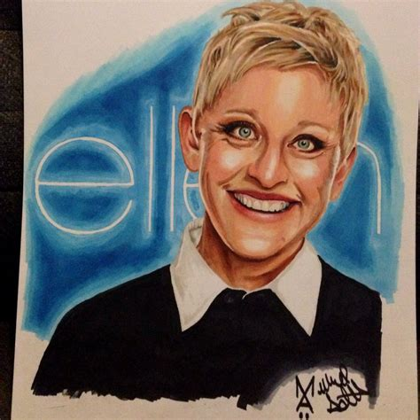 ellen degeneres drawing done with copic markers by