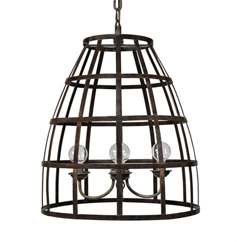 Birdcage Pendant Light Wayne Industrial Loft Metal Birdcage Pendant Light Kathy Kuo Home