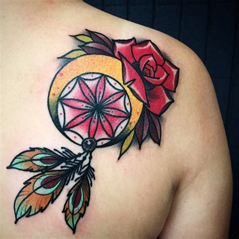 tattoo dreamcatcher old school 150 most popular dreamcatcher tattoos and meanings 2017