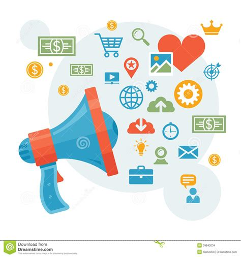 digital marketing advertising loudspeaker concept