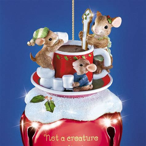 charming tails jingle bells mouse christmas ornaments set