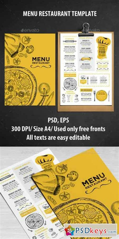 Cafe And Restaurant Template 14636971 187 Free Download Photoshop Vector Stock Image Via Torrent Menu Poster Template Free