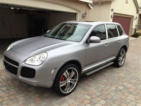 porsche cayenne matte grey purchase used 1 of a matte silver grey porsche