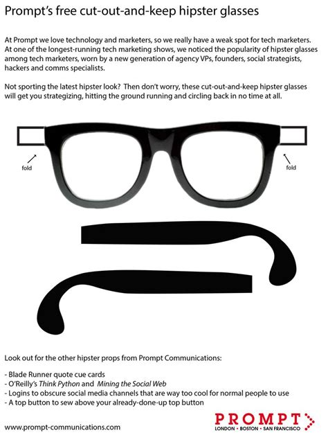 How To Make 3d Glasses Out Of Paper - glasses printable printable eyeglasses template to print
