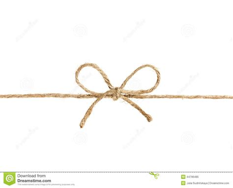 String Images - string or twine in a bow isolated on white stock